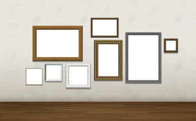 Photo frames on wall , Image include path for change picture in frame