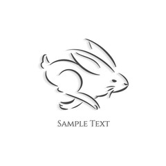 Rabbit logo outline