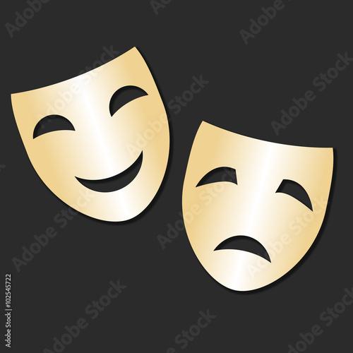 картинки и грустная маски веселая