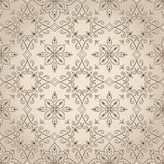 Vintage seamless beige lace texture.