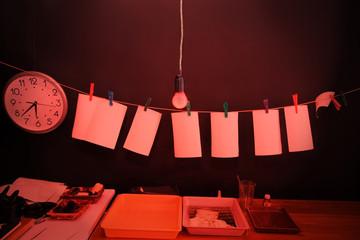 Dark room equipped under photo laboratory