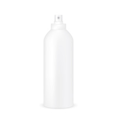 VECTOR PACKAGING: White gray tall and thick bottle sprayer for cosmetic/perfume on isolated white background. Mock-up template ready for design