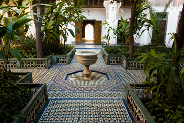 Water Fountain at Bahia Palace - Marrakesh - Morocco