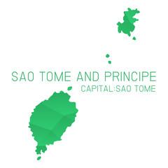 Sao Tome and Principe map geometric texture background