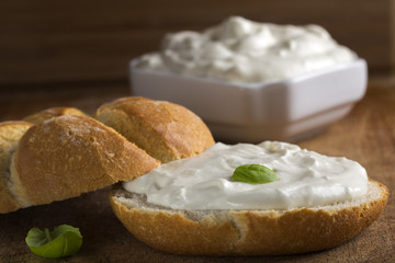 Cream cheese and bread