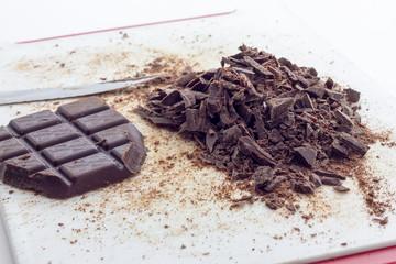 Dark chocolate crumble
