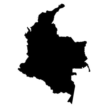 Colombia map on white background vector