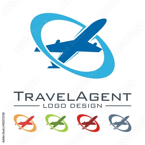 """Travel And Tour Logo, Plane, Elips Design Logo Vector ..."