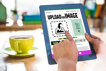 Composite image of designer interface
