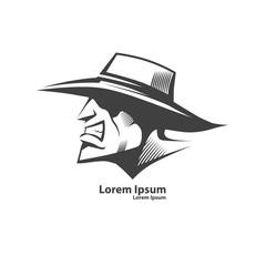 cowboy head logo