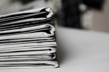 Set of news papers