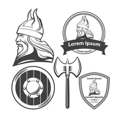 viking head logo elements