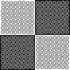 geometric background spirals in black and white