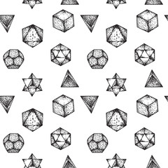 Simply beautiful geometric tattoos seamless pattern