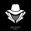 Secret service agent icon. Incognito. hacker. spy agent. underco