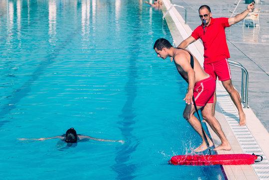Lifeguard rescue training