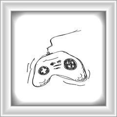 Simple doodle of a game controller