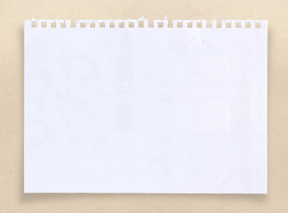 White paper sheet with clipping path.