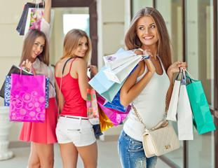 Beautiful woman on the shopping