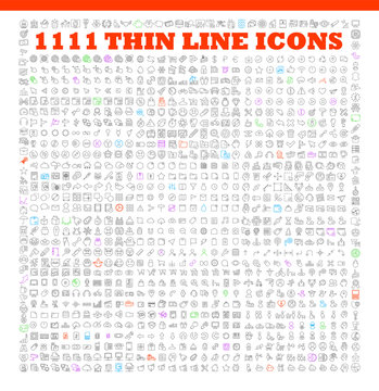 thin line icons exclusive XXL icons set
