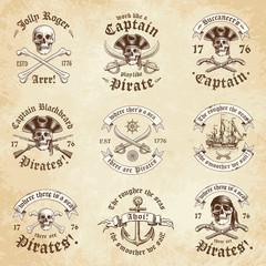 Pirate vintage Logos