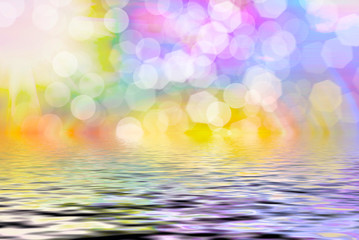 Wall Murals Abstract bokeh background