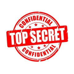 Top secret, confidential vector stamp
