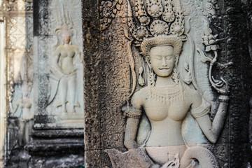 Cambodia sculpture at Angkor Wat