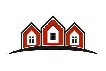 Colorful holiday houses vector illustration, home image