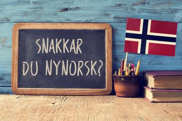 question do you speak Norwegian? written in Norwegian