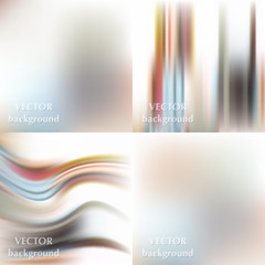 Abstract beautiful colorful blurred wavy smooth vector spring ba