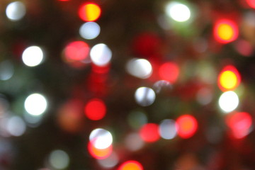 Abstract Bokeh Christmas circles of light background