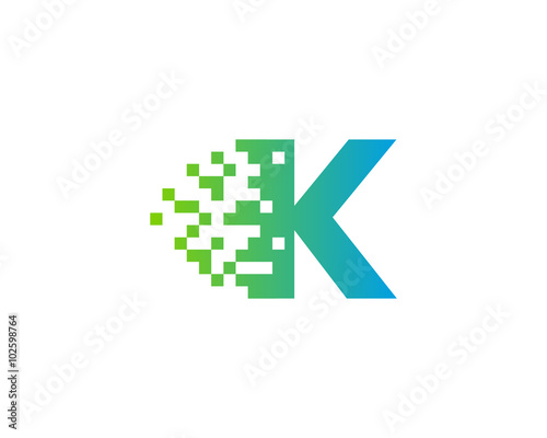 quot letter k pixel motion logo design template quot stock image and royalty free vector files on