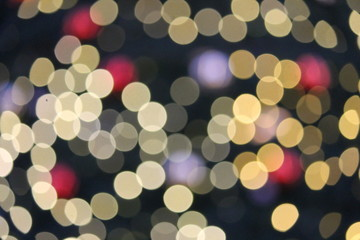 Abstract Bokeh Christmas circles of light
