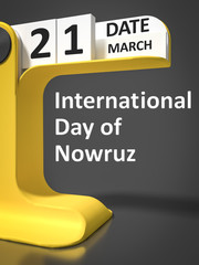 vintage calendar International Day of Nowruz