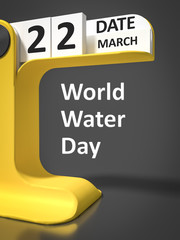 vintage calendar World Water day