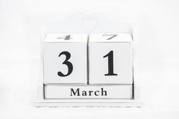 calendar march number