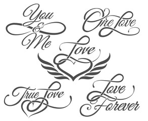 Love Lettering in Tattoo style