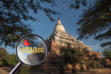 magnifying glass Myanmar attraction