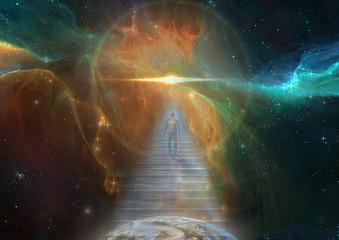 Cosmic Stairway Wall mural