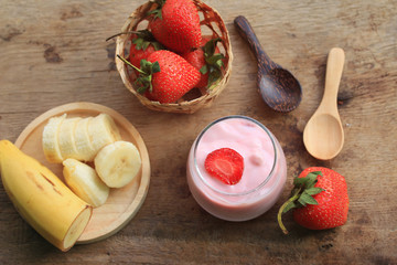 Yogurt smoothie fresh strawberry