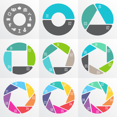 Circle arrows for infographic.