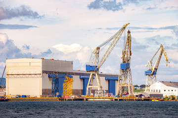 A large crane in the harbour of Stavanger, Norway.