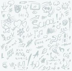 doodle back to school texture and background,  illustration design element