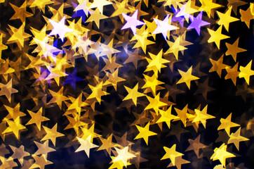 Blurring lights bokeh background of stars