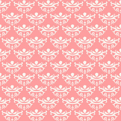 Princess seamless pattern, Vintage background