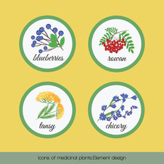 Icons of medicinal plants 1