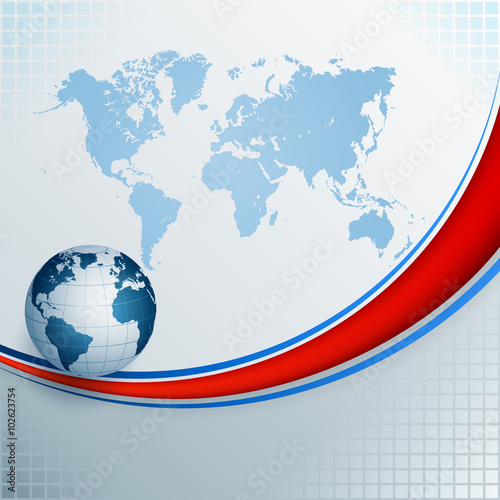 Abstract computer design background with world map and earth abstract computer design background with world map and earth globe composition with world gumiabroncs Images