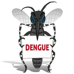 Aedes aegypti Mosquito stilt holding poster Dengue