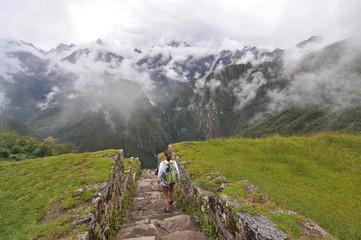 Walking into Clouds. Machu Picchu, Peru